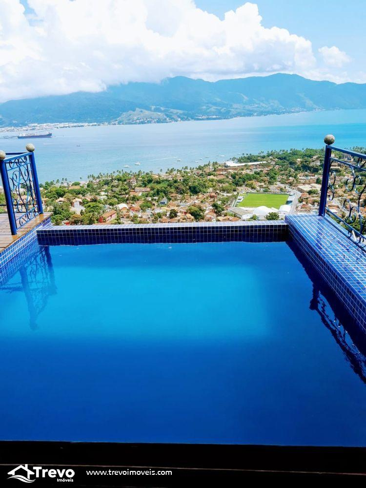 Casa a venda em Ilhabela com linda vista para o mar