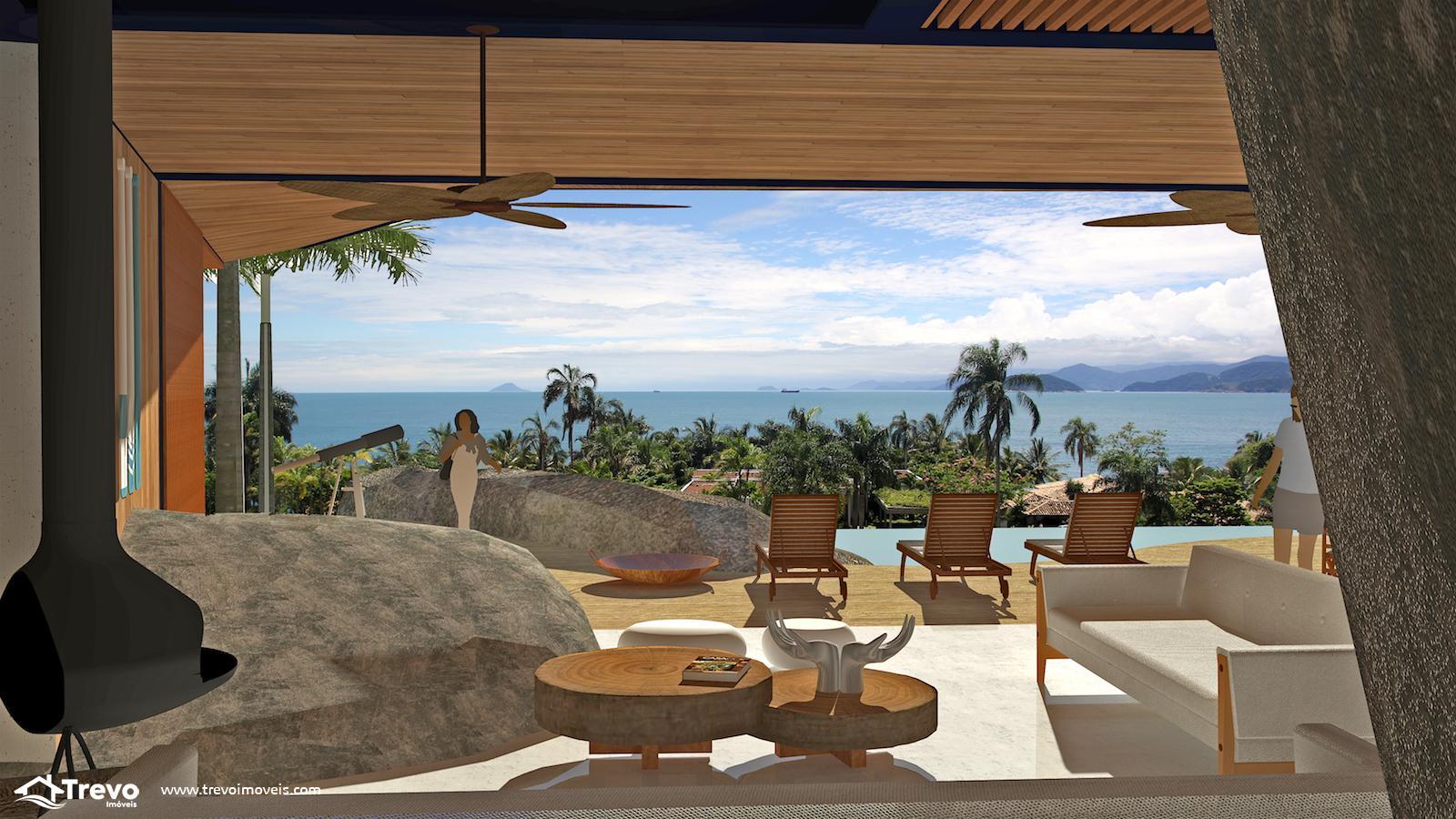 Lindo terreno a venda em Ilhabela com vista para o mar